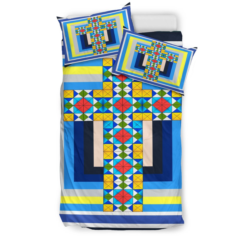 Modern Cross Design Duvet Cover - Christianity Amore