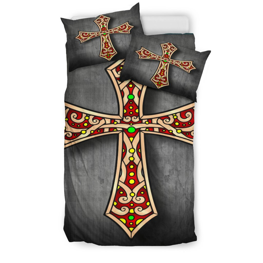 Jewel Cross Duvet Cover - Christianity Amore
