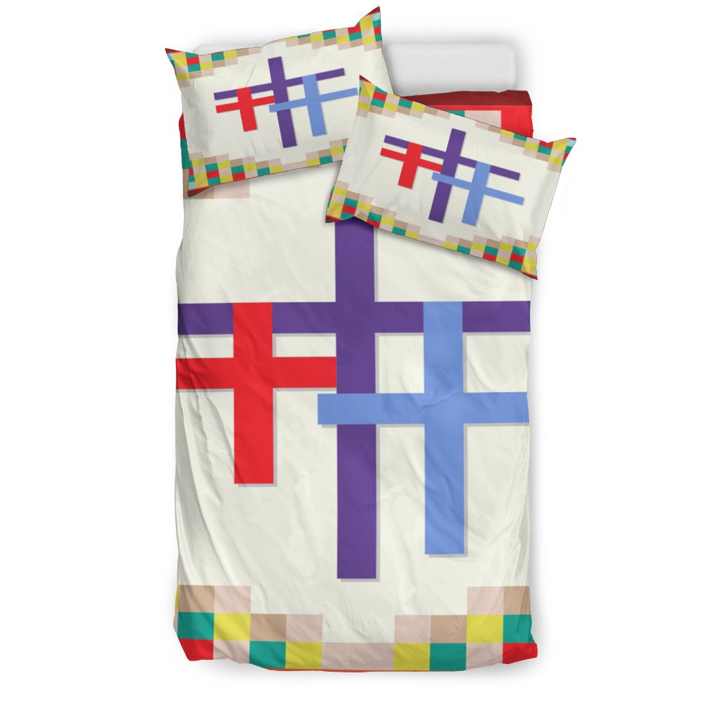 Fun Three Cross Duvet Cover - Christianity Amore