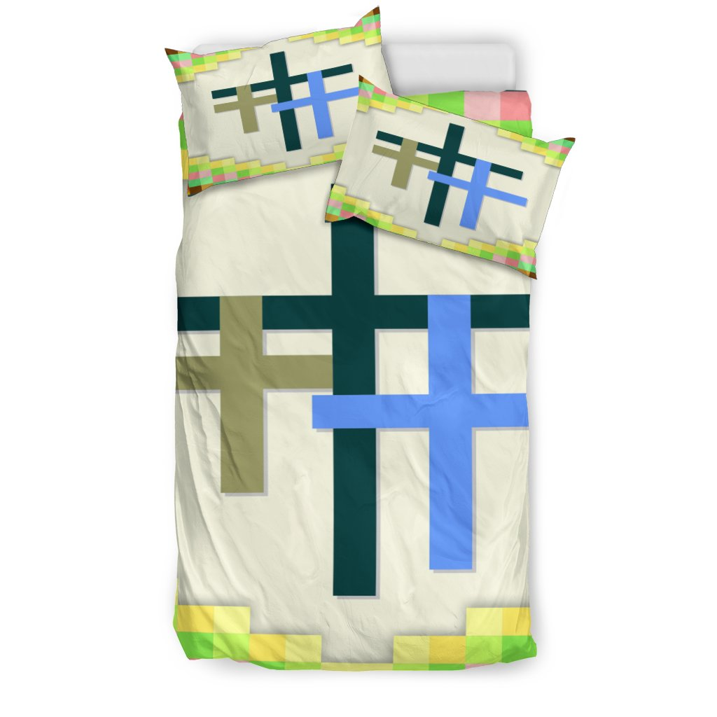Three Cross Fun Colors Duvet - Christianity Amore