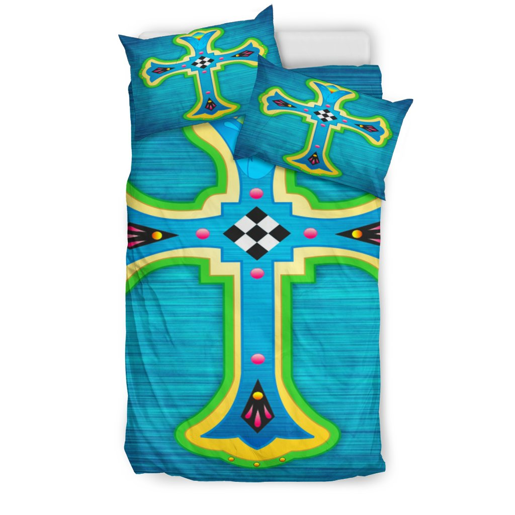 Modern Classic Design Cross Duvet Cover - Christianity Amore