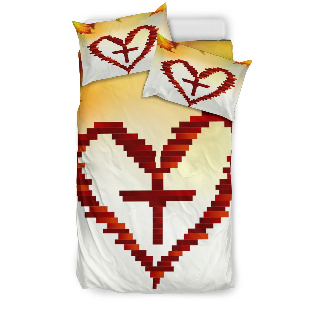 Heart and Cross Duvet Cover - Christianity Amore