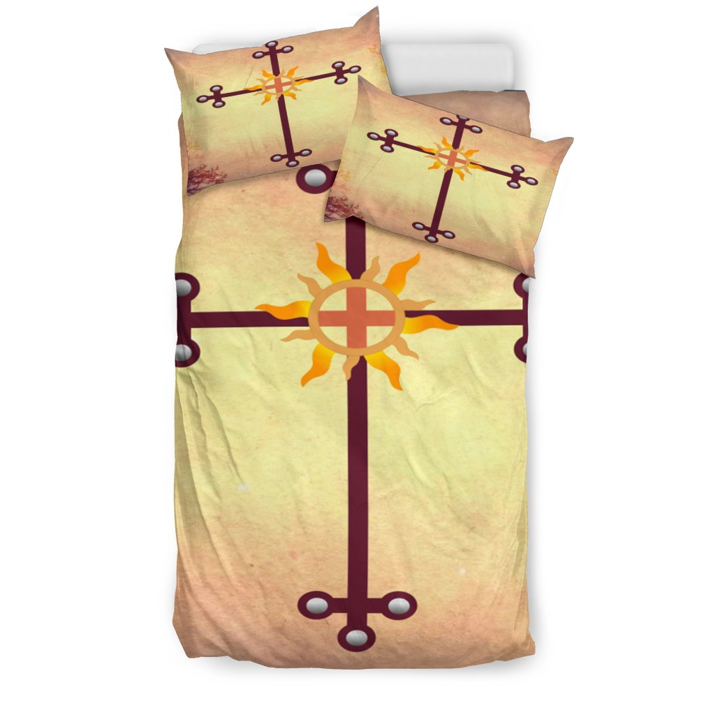 Earth Tone Cross Duvet Cover - Christianity Amore