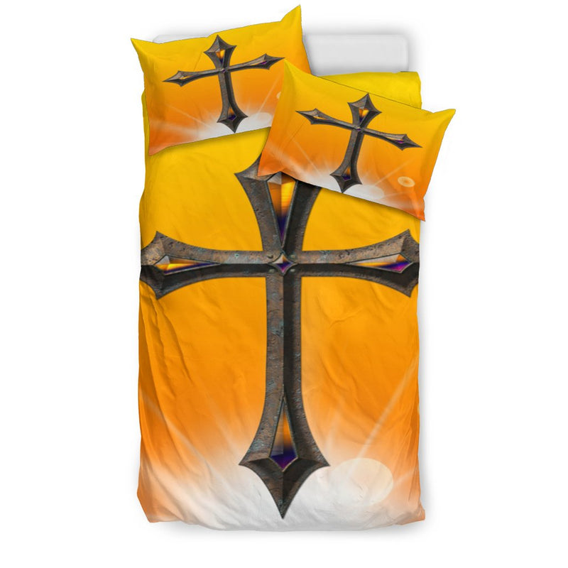 Regal Jewel Cross Duvet Cover - Christianity Amore