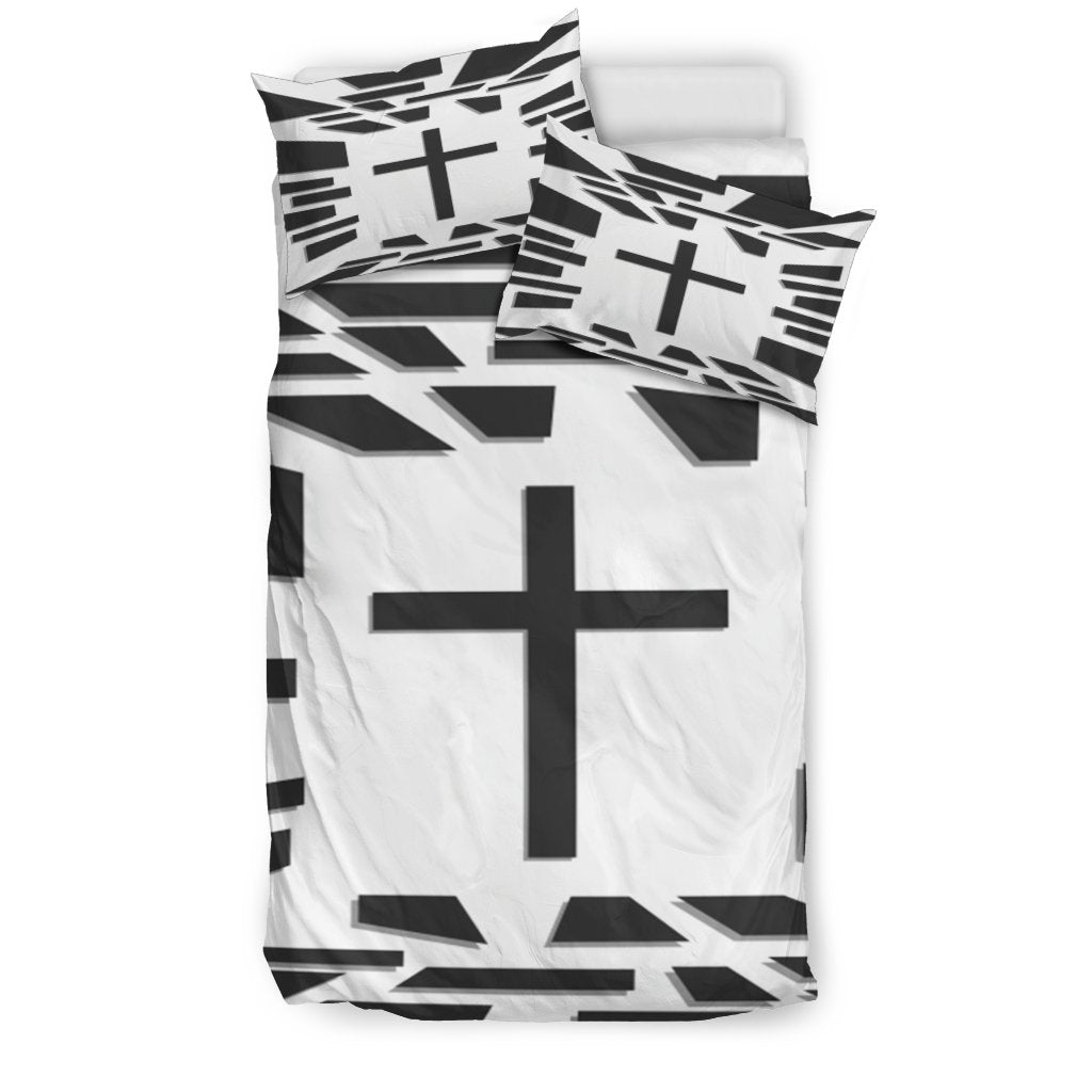 Black and White Modern Duvet Cover - Christianity Amore