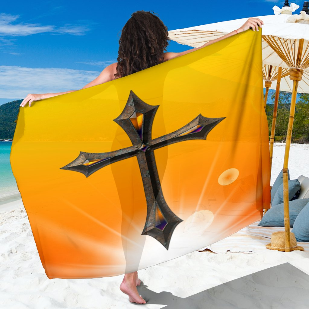 Yellow Jeweled Cross Sarong - Christianity Amore