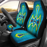 Modern Blue Cross Car Seat Covers - Christianity Amore