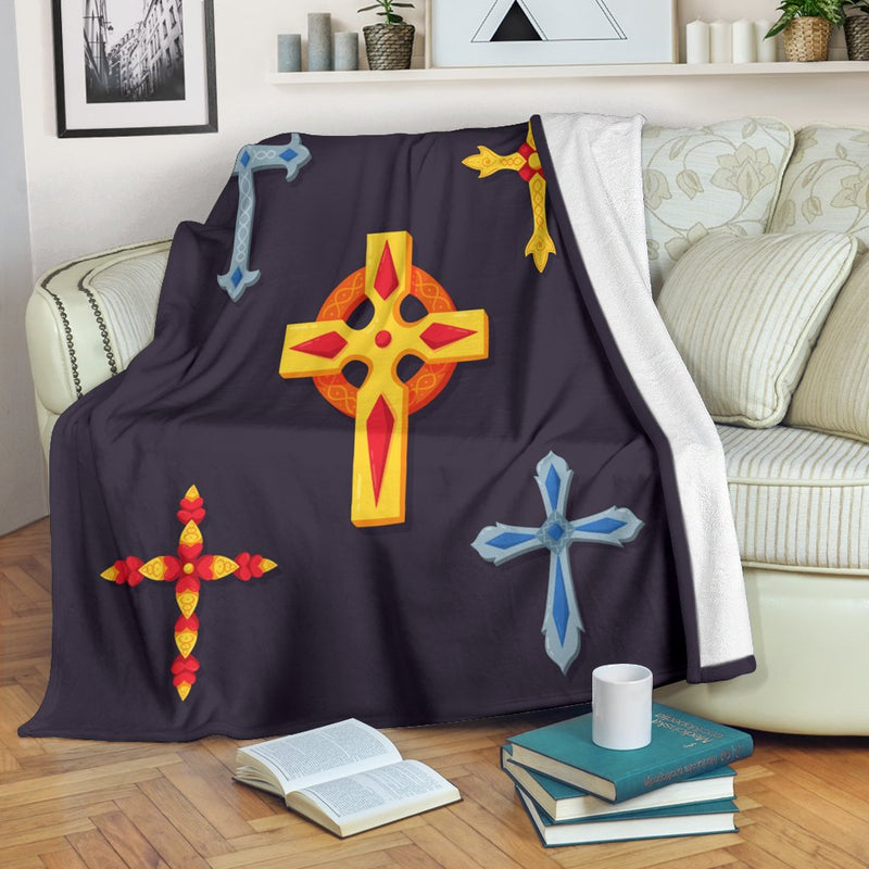 Multiple Cross Blanket - Christianity Amore