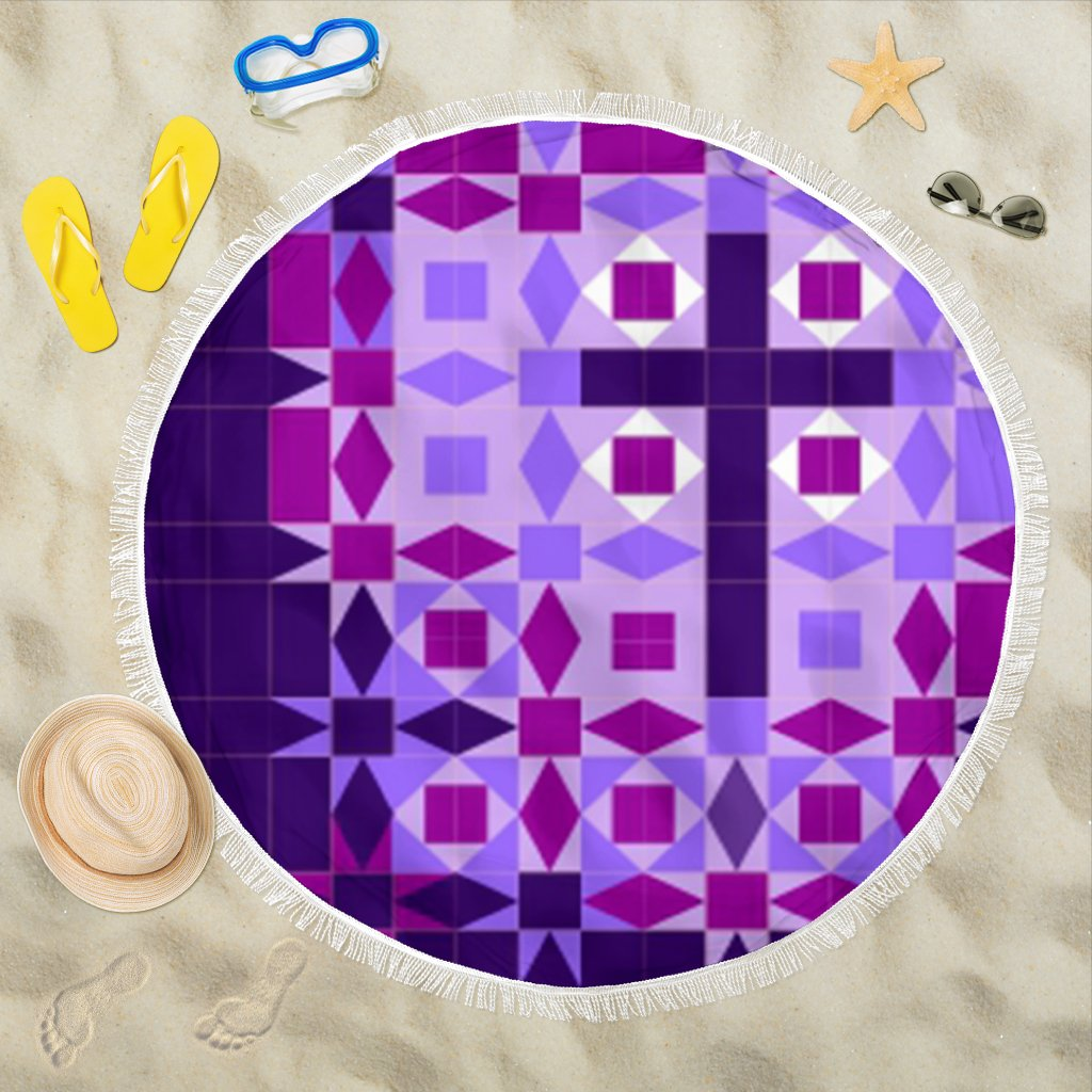 Purple Cross Beach Towel - Christianity Amore