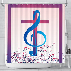 Treble Cross Shower Curtain - Christianity Amore