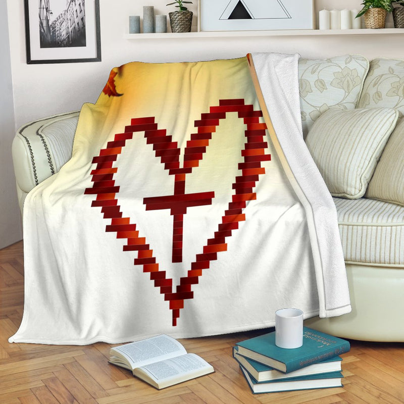 Heart Cross Blanket - Christianity Amore