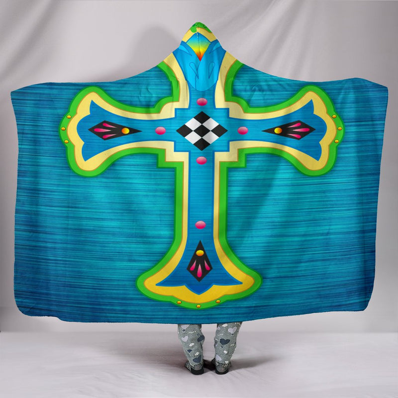 Stunning Cross Hooded Blanket - Christianity Amore