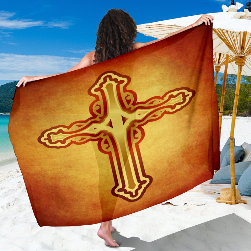Warmed by the Sun Gold Cross Sarong - Christianity Amore