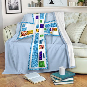 Mosaic Cross Blanket - Christianity Amore