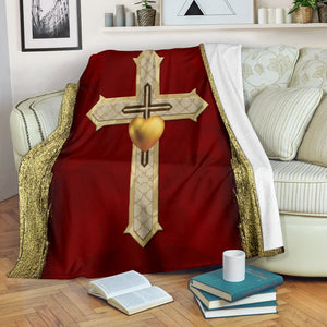 Royal Cross Blanket - Christianity Amore