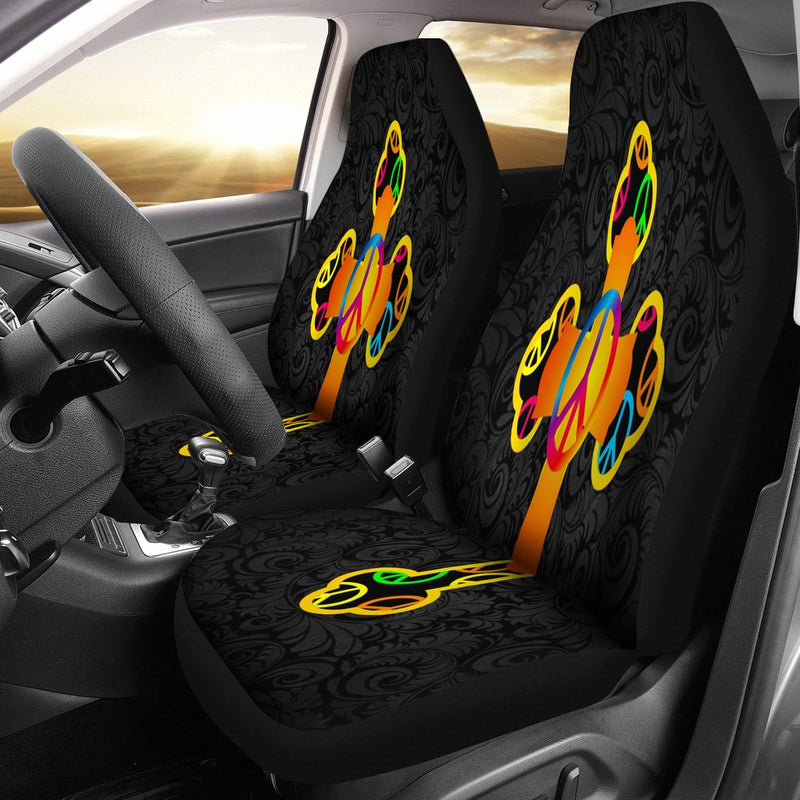 Hippie Love and Peace Car Seat Covers - Christianity Amore
