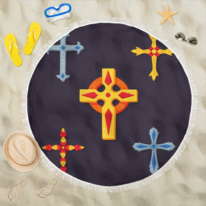 Five Cross Beach Towel - Christianity Amore