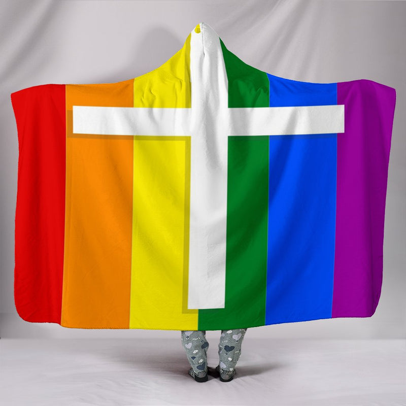 LGBTQ Hooded Blanket - Christianity Amore