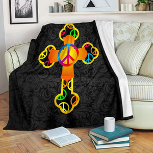 Hippie New Age Cross Blanket - Christianity Amore