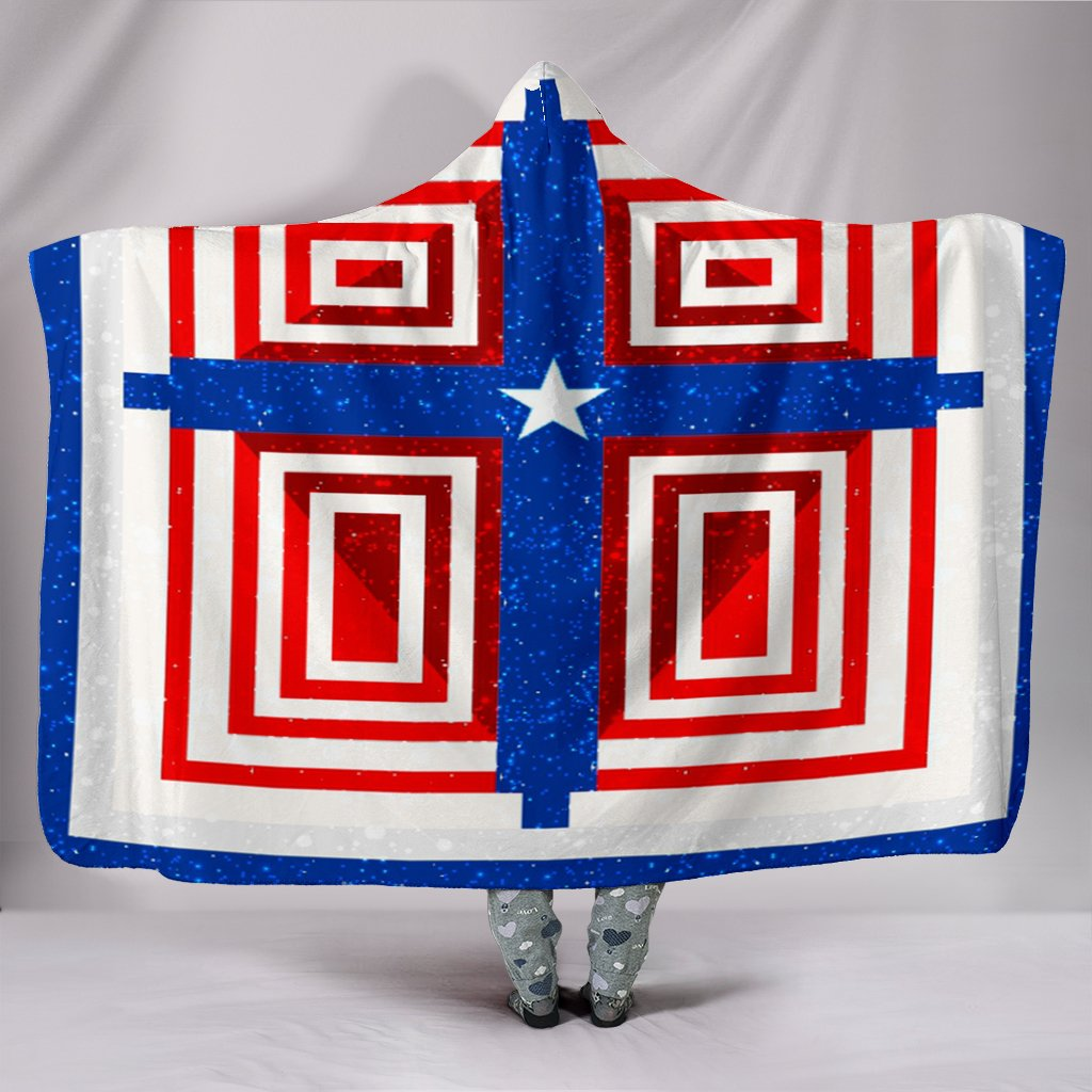 Patriot Pride Hooded Blanket - Christianity Amore