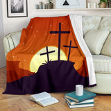 Moon Rise Cross Blanket - Christianity Amore