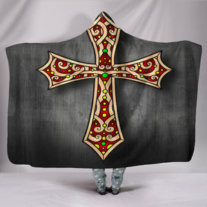 Gothic Cross Hooded Blanket - Christianity Amore