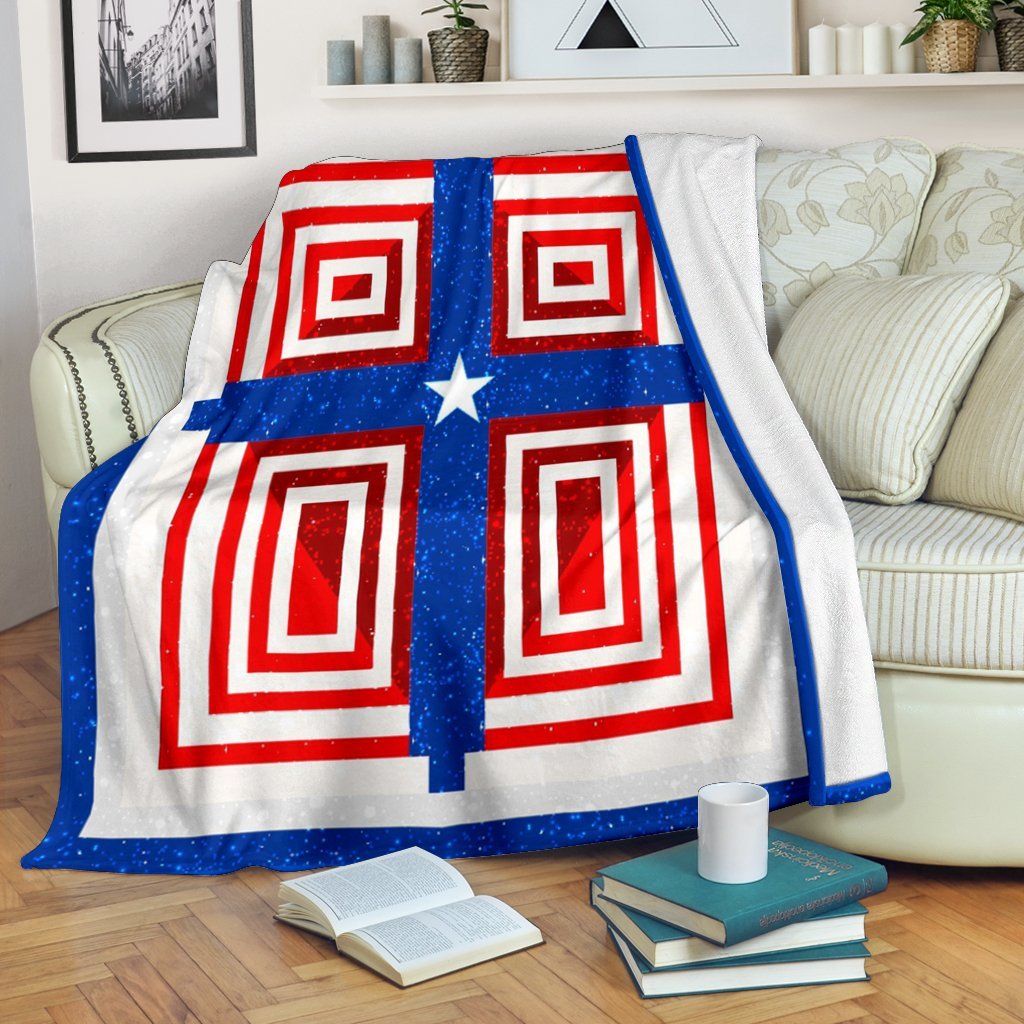 Patriot Cross Blanket - Christianity Amore