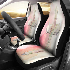 Lady's Cross Car Seat Cover - Christianity Amore