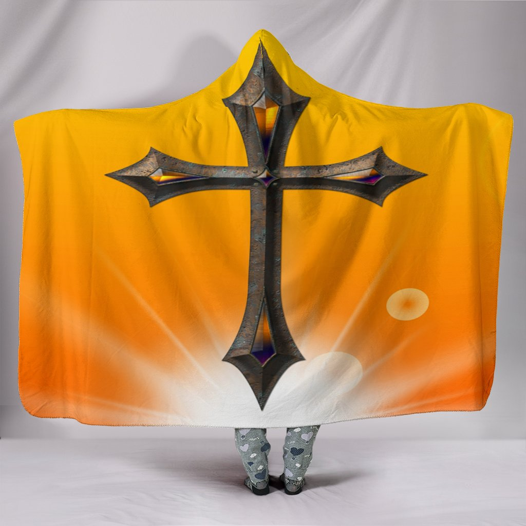 Iron Jewel Cross Hooded Blanket - Christianity Amore
