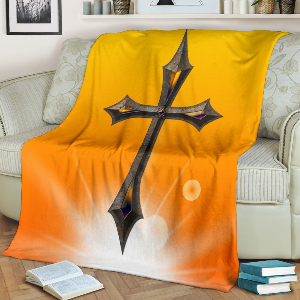 Jeweled Cross Blanket - Christianity Amore