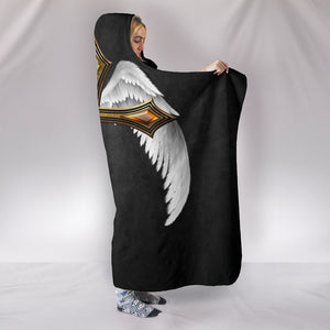 Dramatic Winged Jeweled Cross Hooded Blanket - Christianity Amore