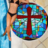 Stained Glass Beach Towel - Christianity Amore