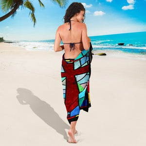 Stained Glass Cross  Sarong - Christianity Amore