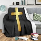 Gold Cross Blanket - Christianity Amore
