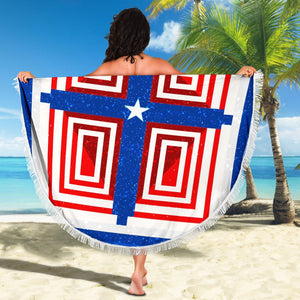 Patriot Cross Beach Towel - Christianity Amore