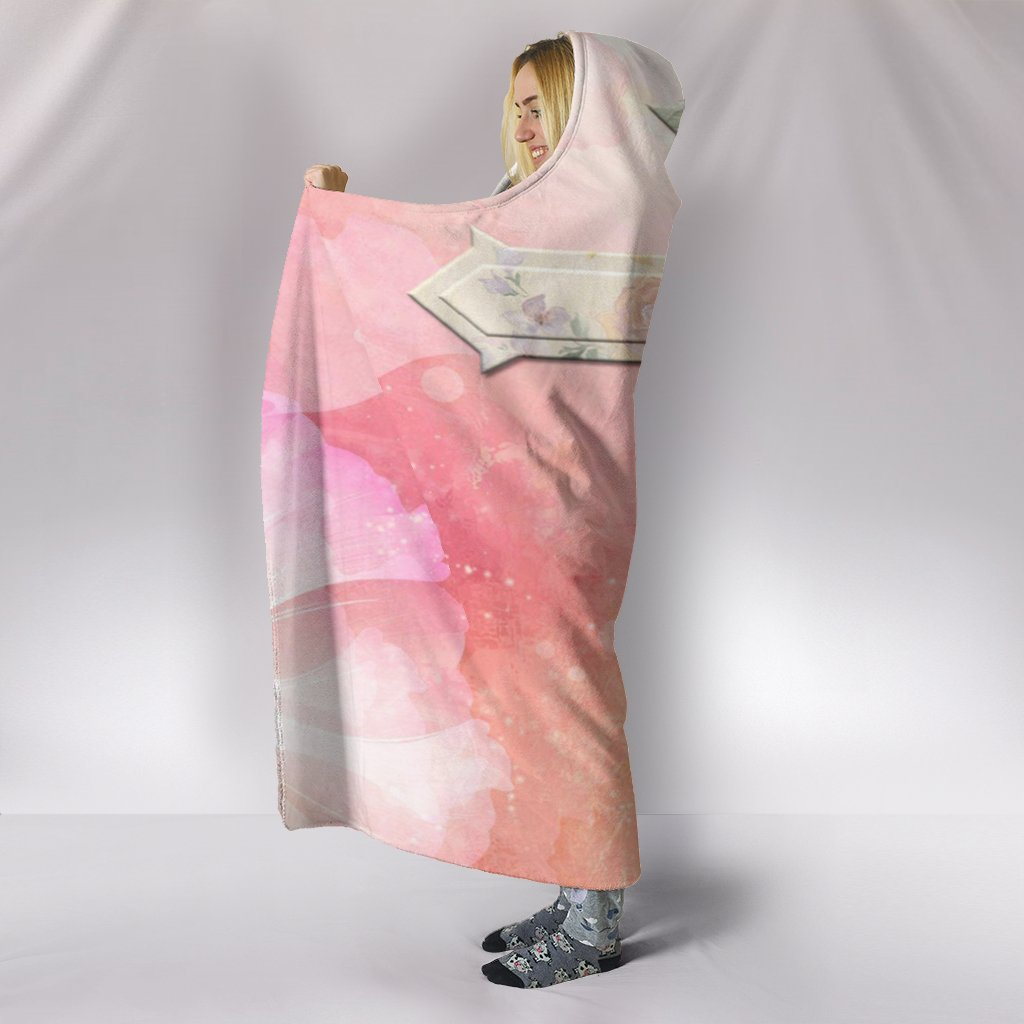 Pretty in Roses and Pink Hooded Blanket - Christianity Amore