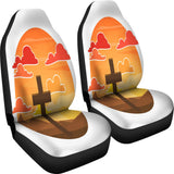 Country Cross Car Seats Covers - Christianity Amore