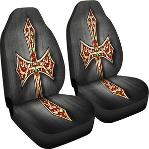 Gothic Cross Car Seat Covers - Christianity Amore