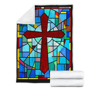 Stained Glass Blanket - Christianity Amore