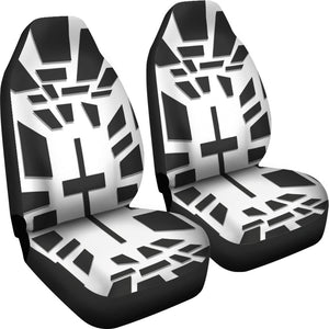 Modern Black & White Cross Car Seat Covers - Christianity Amore