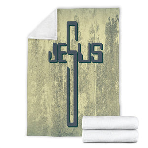 Industrial Jesus Cross Blanket - Christianity Amore