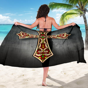 Black Jeweled Cross Sarong - Christianity Amore