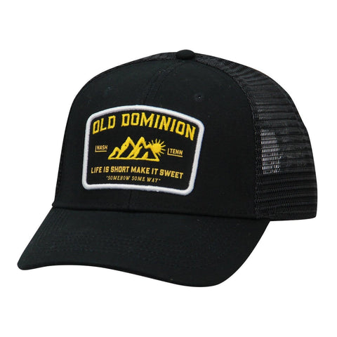 Old Dominion Black Hat with yellow make it sweet mountain patch
