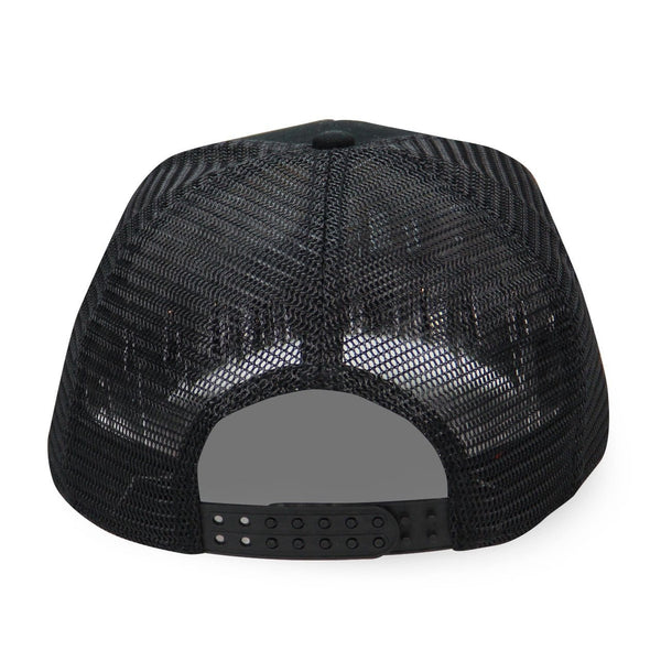 old dominion black hat with mesh back