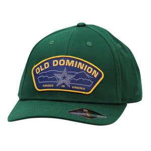 Old Dominion green hat with blue star patch