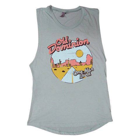 old dominion ladies muscle tank with a southwestern graphic