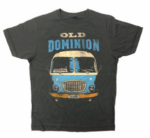 One Man Band Tour Bus Shirt CHARCOAL