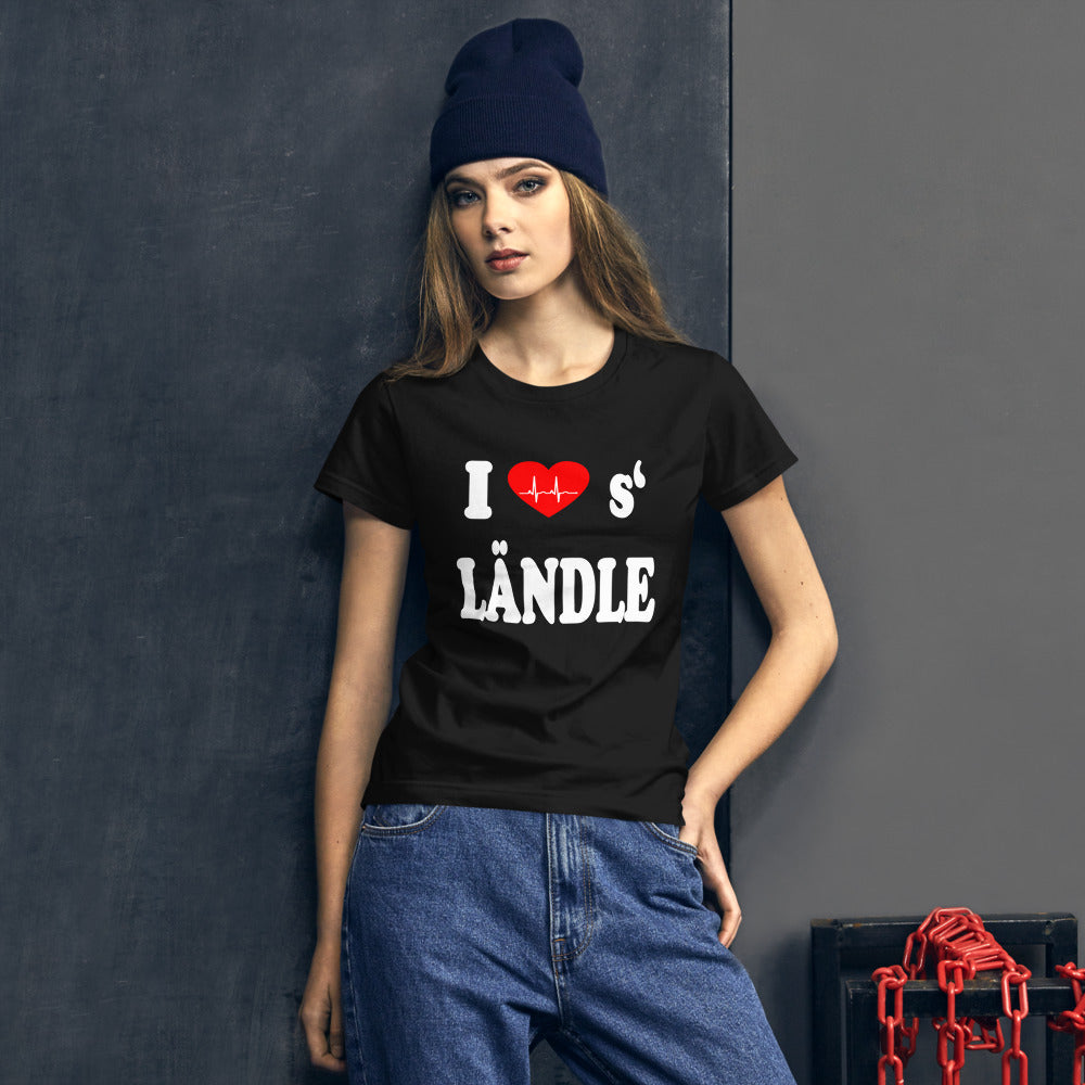 I love 's Ländle Damen Kurzarm T-Shirt