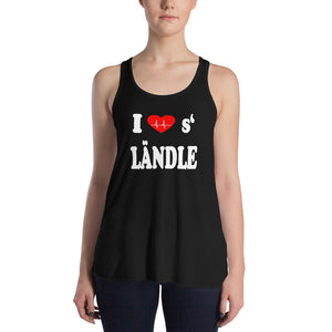 I love s' Ländle Damen Blumiges Racerback Tank