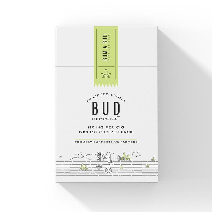 Bud Hempcigs | 120mg per cig | 10 cigs in a pack